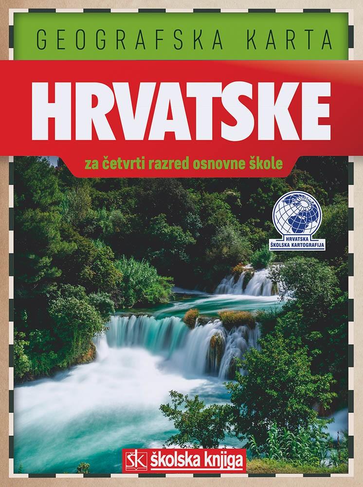 Geografska karta Hrvatske (1:900.000)