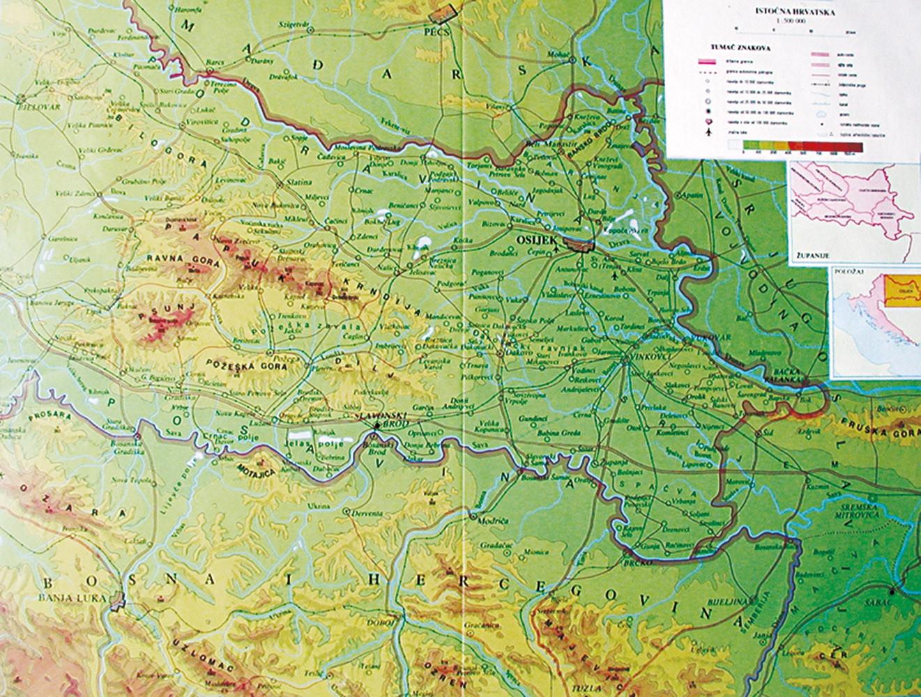 Regijska karta: Istočna Hrvatska