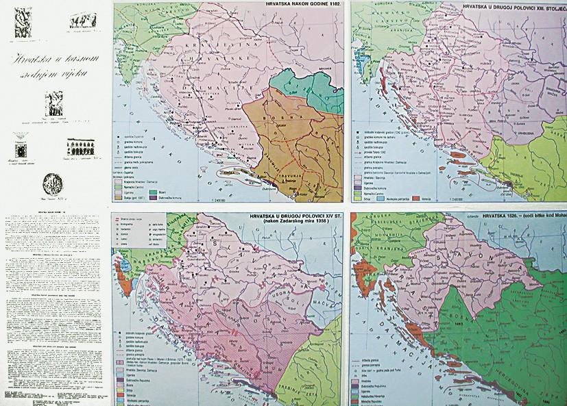 Karta Hrvatske u kasnom srednjem vijeku