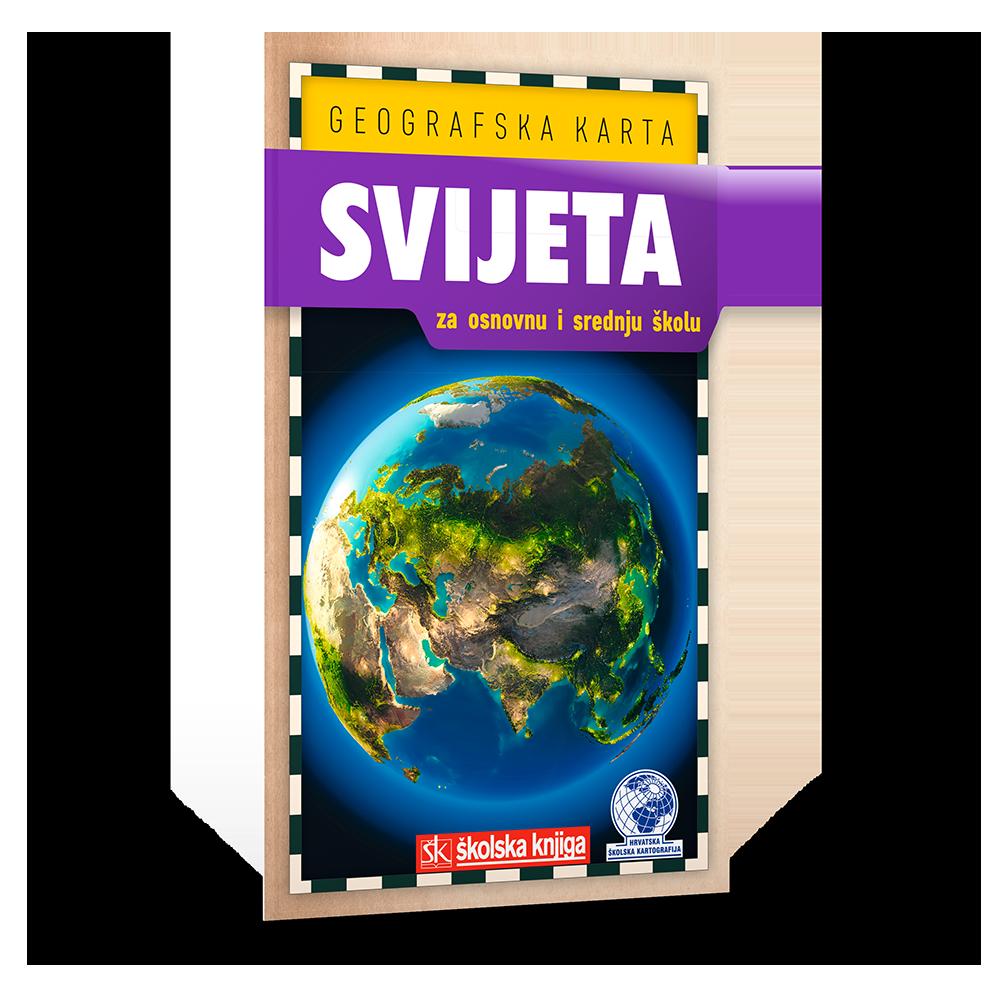 Geografska karta svijeta