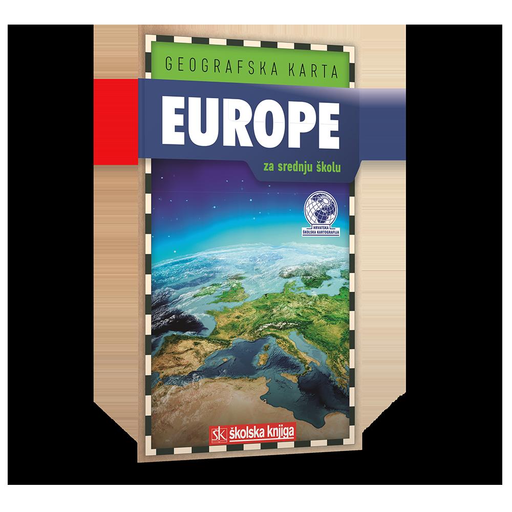 Geografska karta Europe za srednju školu