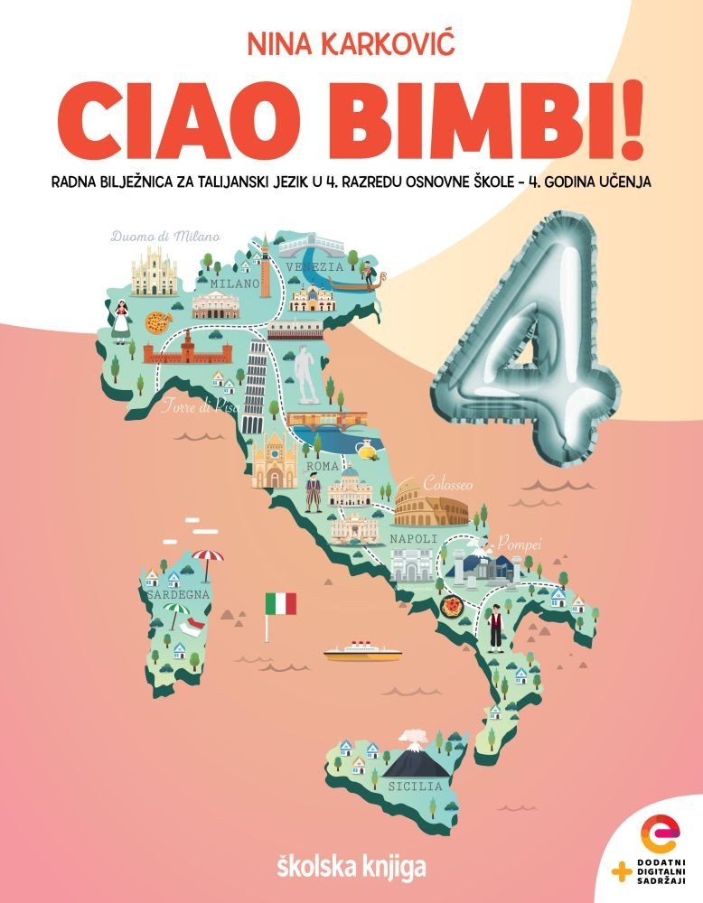 CIAO BIMBI! 4 - radna bilježnica za talijanski jezik u četvrtom razredu osnovne škole - 4. godina učenja