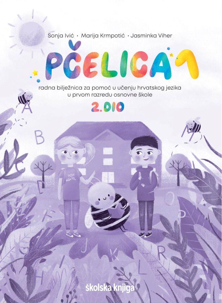 PČELICA 1, 1. i 2. DIO - komplet radnih bilježnica za pomoć u učenju hrvatskog jezika u prvom razredu osnovne škole