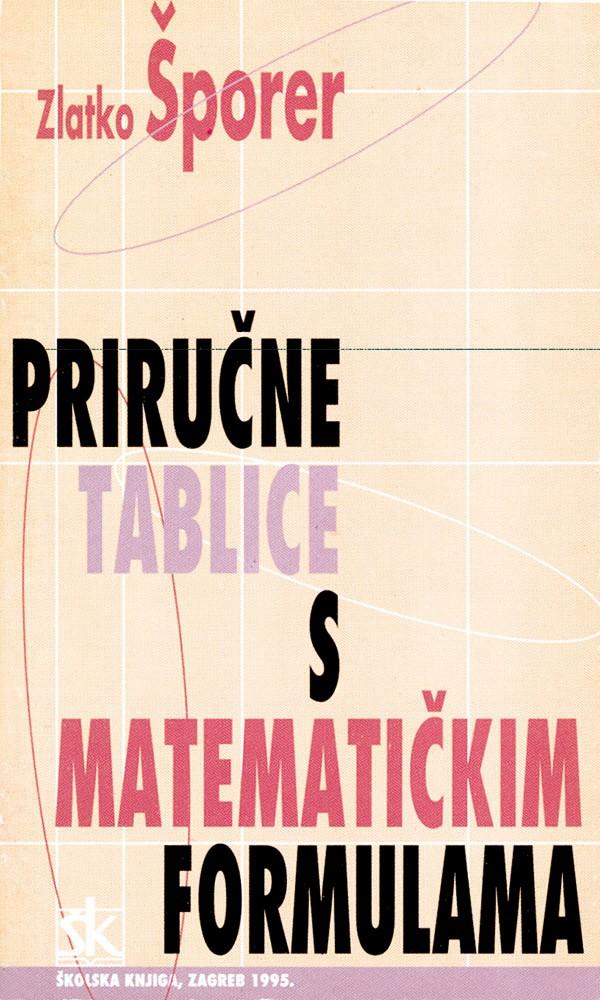 Priručne tablice s matematičkim formulama