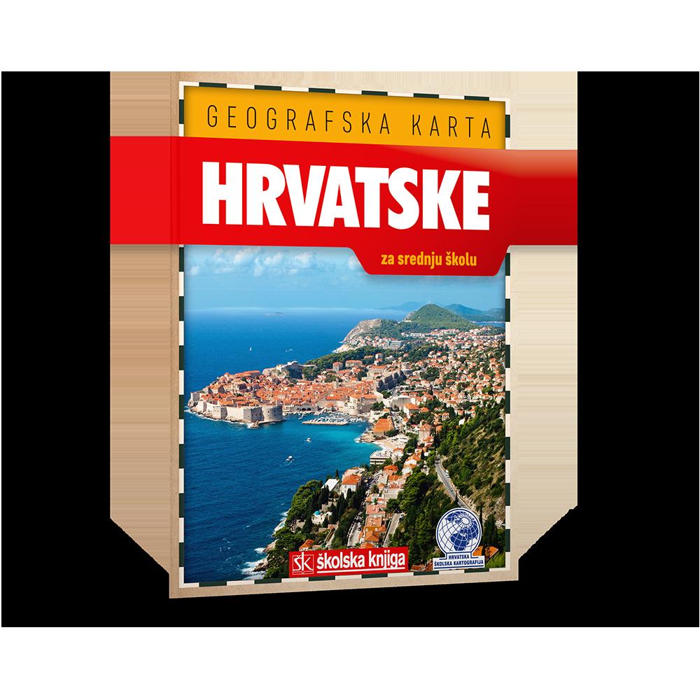 Geografska karta hrvatske za srednju školu