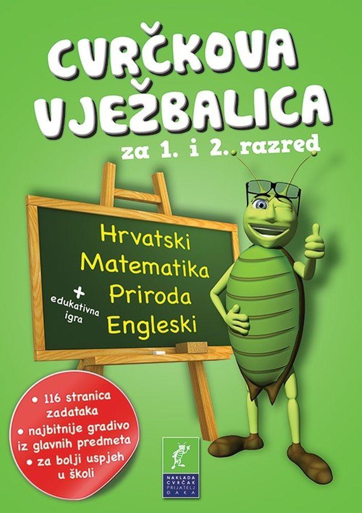 Cvrčkova vježbalica za 1. i 2. razred (hrvatski-matematika-priroda-engleski)