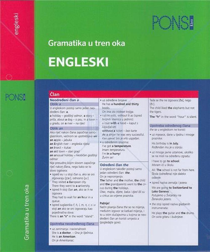 PONS glagoli u tren oka engleski