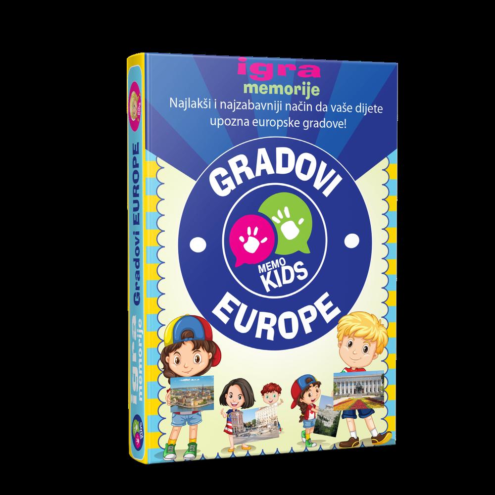 Igra memorije - karte gradovi Europe