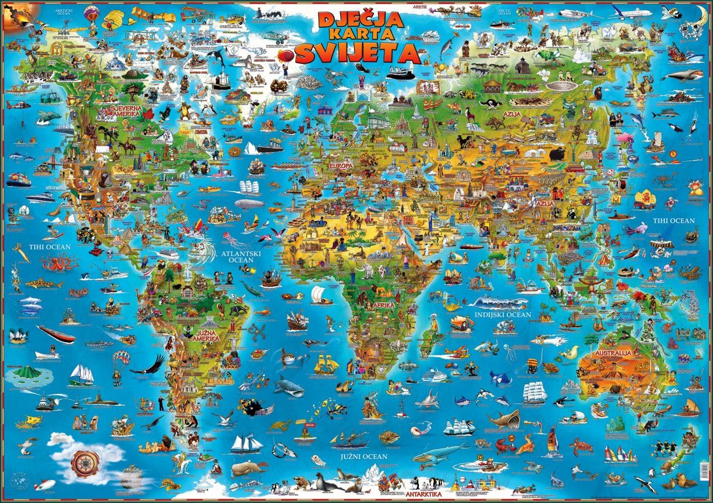 Dječja karta svijeta
