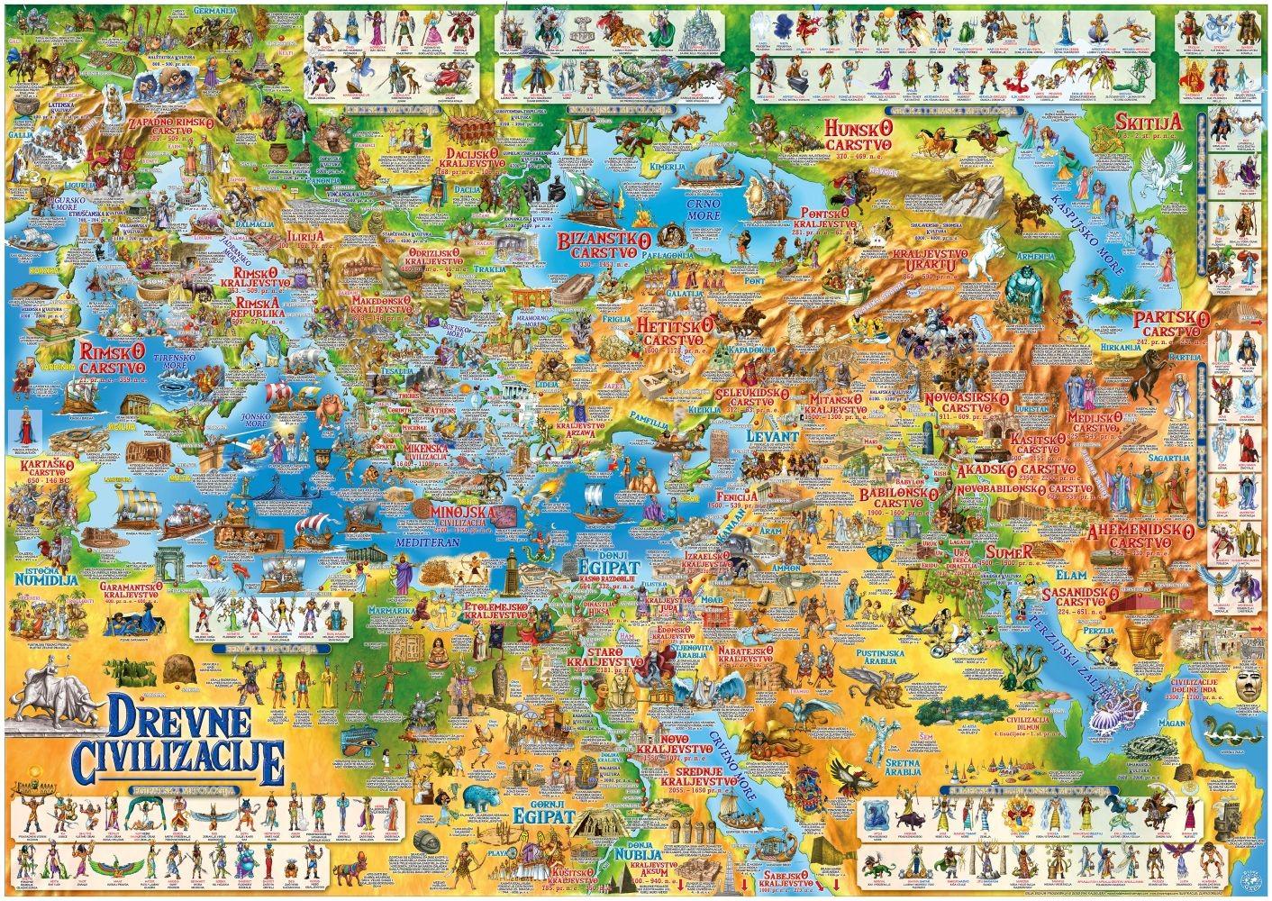 Dječja karta drevnih civilizacija - novo