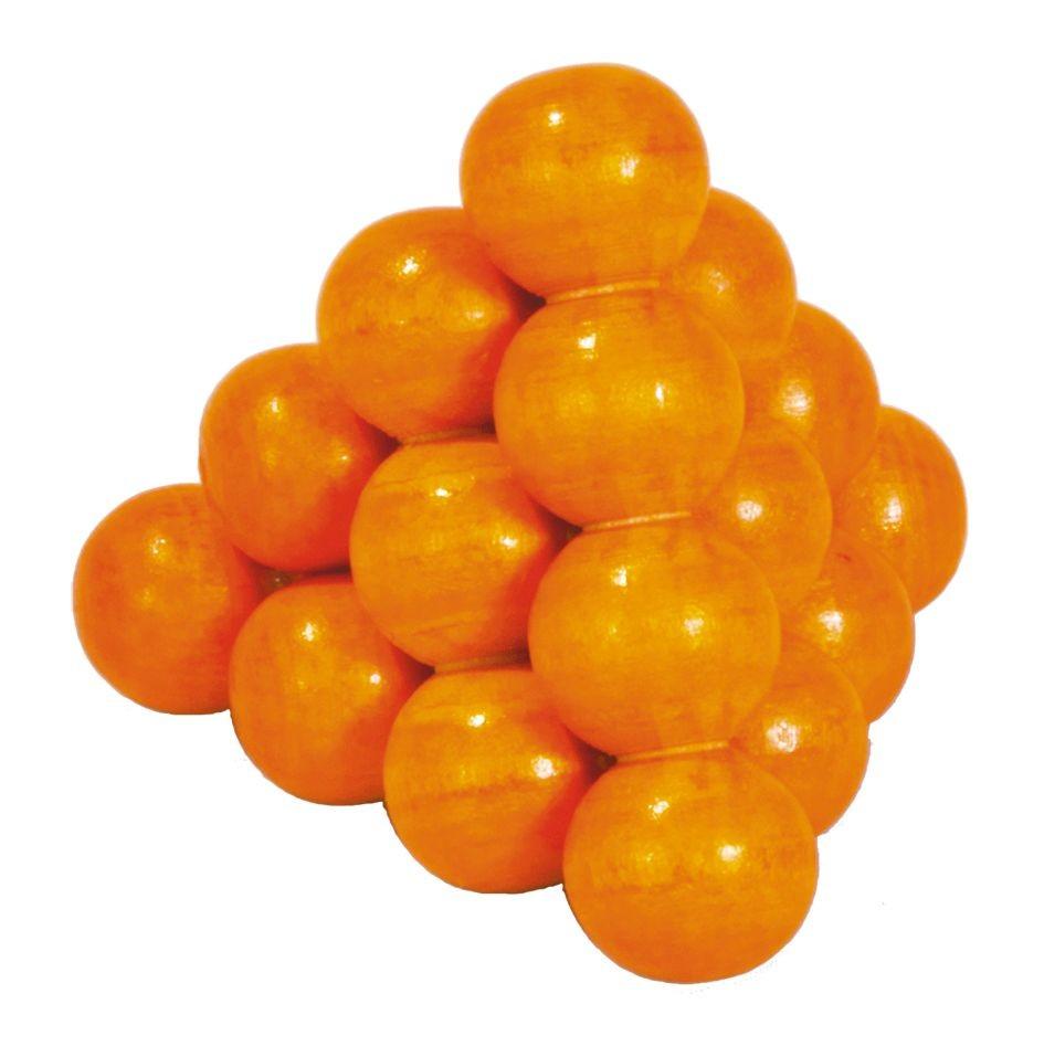 """Drvene puzzle """"Loptice u piramidi"""" narančasta"""
