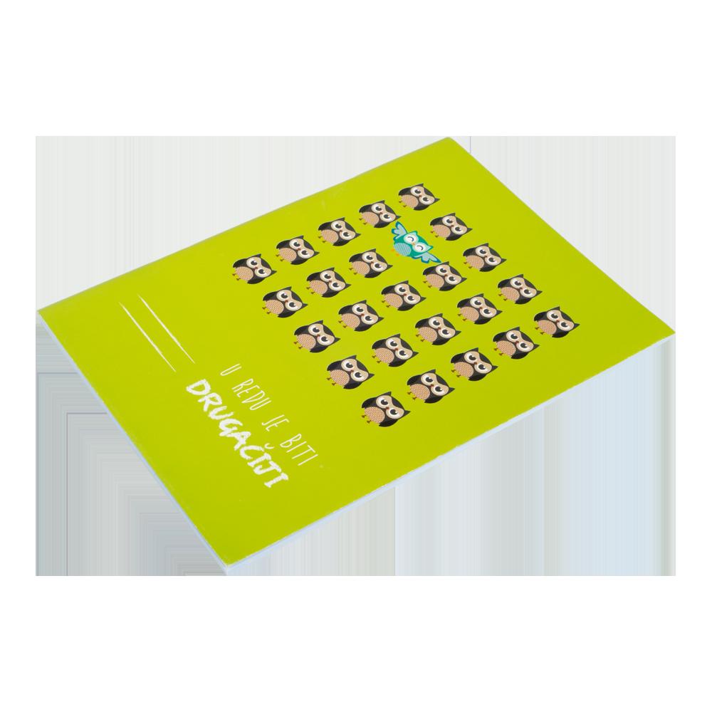 Bilježnica A4 kvadratići - za djecu s posebnim potrebama pri učenju