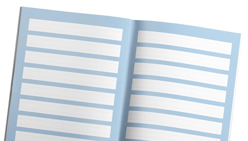 Bilježnica A4 linije - za djecu s posebnim potrebama pri učenju