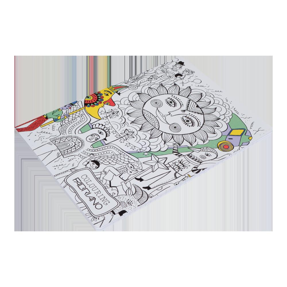 Bilježnica A4, crte, Colouring Kids, bez margina - FABRIANO