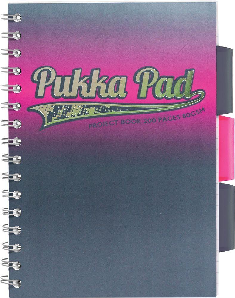 Bilježnica spiralna A5/D PUKKA PAD ELECTRA 26115 200 STR.