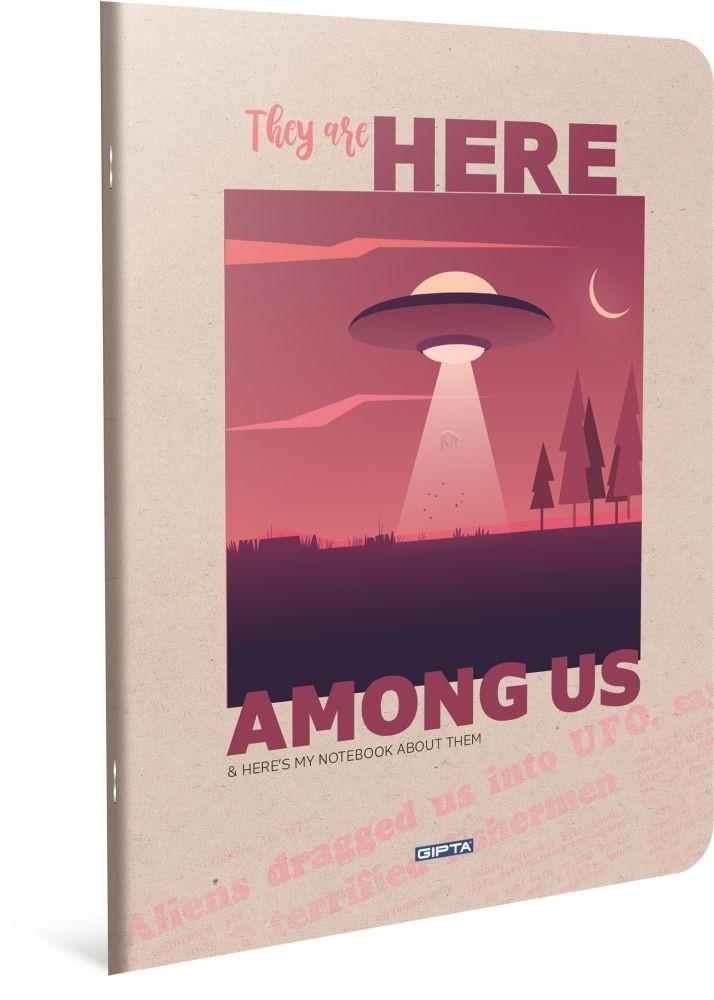 HERE BILJEŽNICA A4 CRTE RED UFO