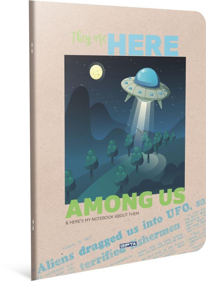 HERE BILJEŽNICA A4 KOCKE UFO FULL MOON