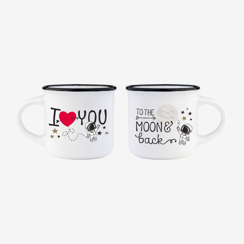 Espresso for Two - To the moon & back coffee cups - Legami