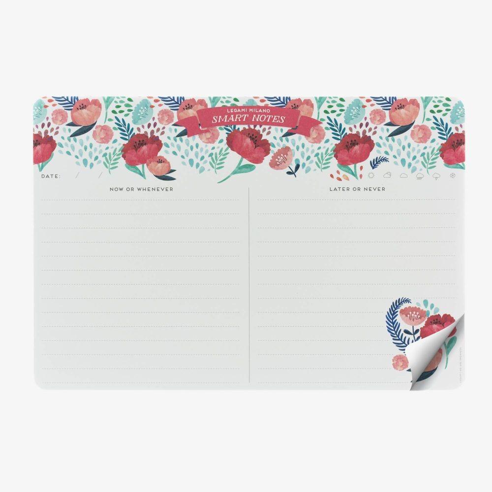 Legami papirnata podloga za miš i stolni notes, 2u1, Flowers