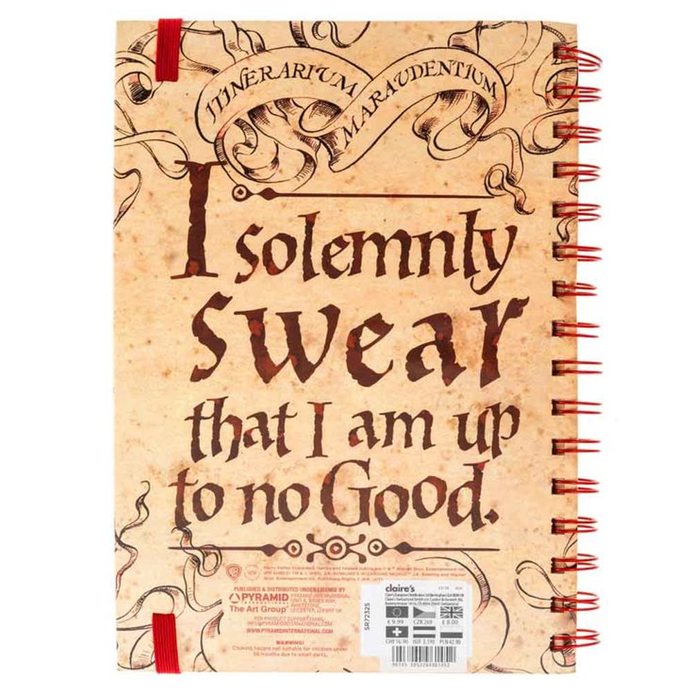 Harry Potter Notebook A5 Marauders Map