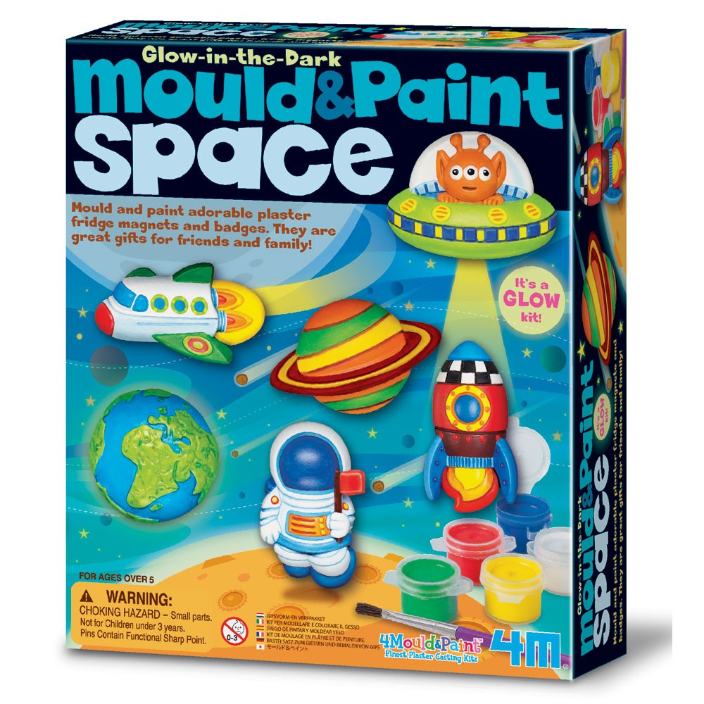 KidzLabs - Mould And Paint, Space; set za izradu magneta - svemir