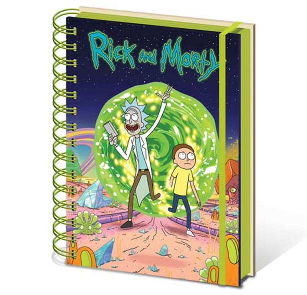 Rick and Morty A5 spiralni notes