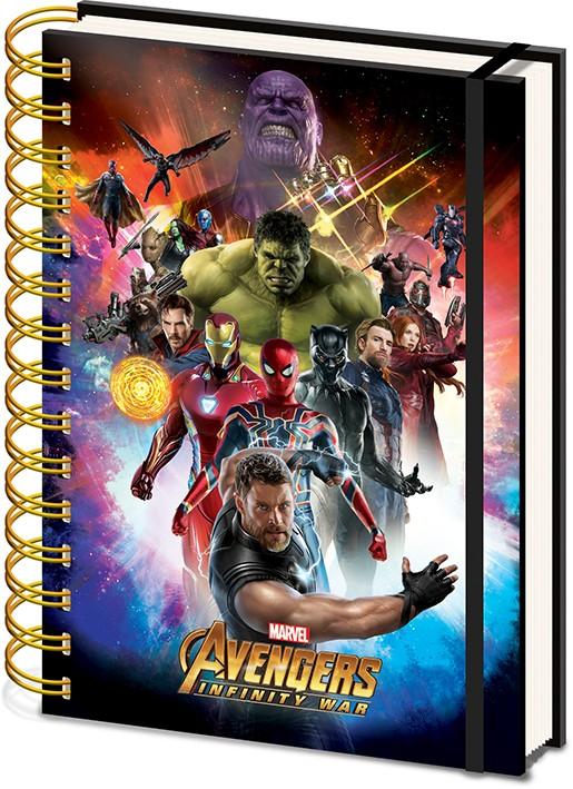 Avengers: Infinity War A5 Wiro metallic notebook