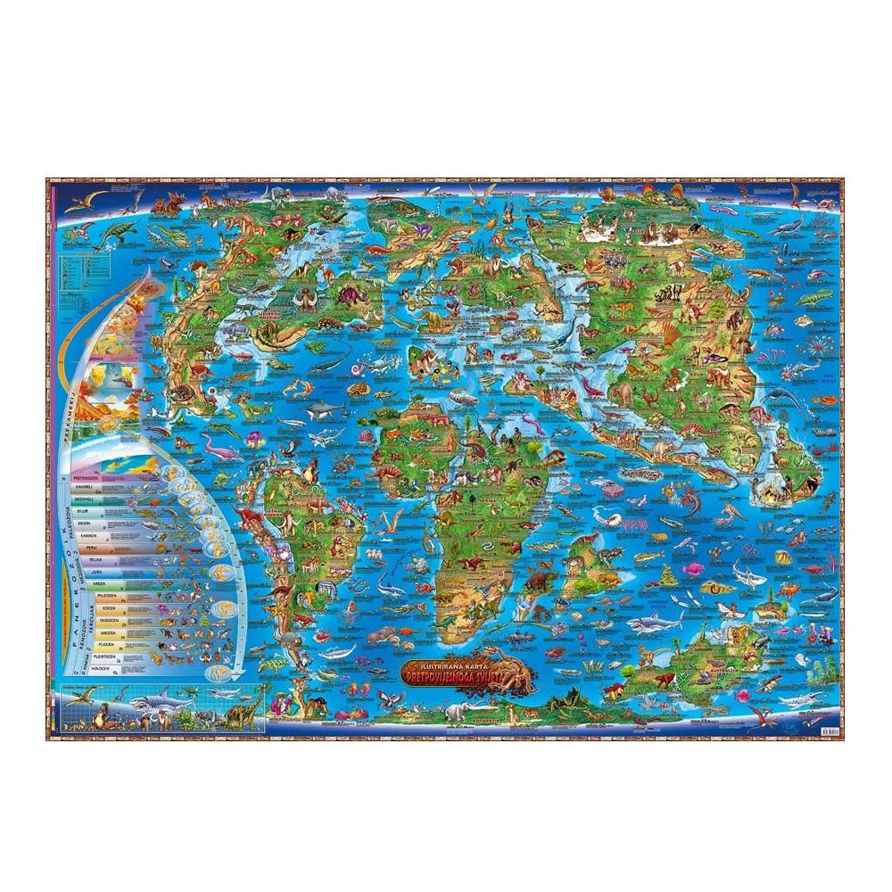 Dječja karta pretpovijesnog svijet