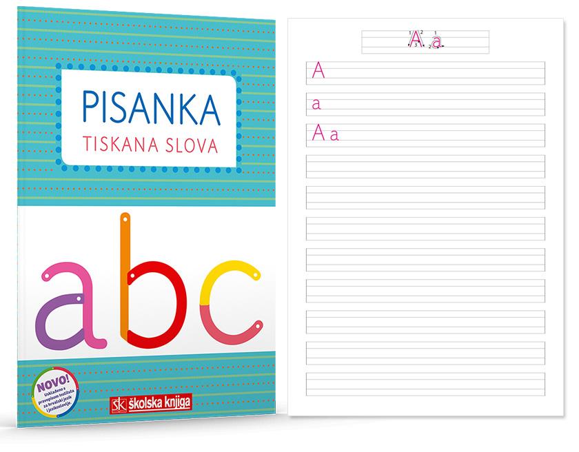 Pisanka A - Tiskana slova